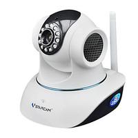 VSTARCAM T6835WIP PnP IP Network Camera w/ Wi-Fi / 12-IR LED / Microphone/TF Slot - White,P2P
