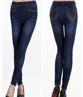 HOT Wholesale New Brand Jeans Ladies Print Leggings Pantyhose Brand Seamless Cowboys Pantyhose Fashion Leggings FSL913