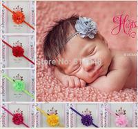 Girl's Head Accessories hairband Baby Headband flower princess headband elastic flower hairband 15pcs