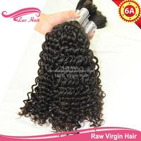 Curly human hair for braiding bulk no attachment braiding hair extensions 100% human braiding hair 2pcs or 3pcs or 4pcs/lot