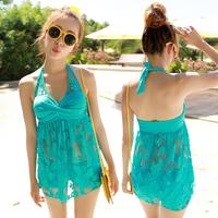 New 2014 summer brand lace Push Up clothing tankinis set bandage swimwears swimsuit for Women M-XXL maillot de bain bathing suit