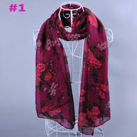 free shipping ladies fashion printe floral plain cotton voile shawls hijab muslim scarves/scarf 10pcs/lot 180*90cm
