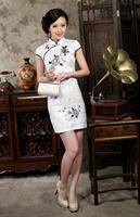 2014 Fashion Cheongsam Short Paragraph Slim Retro Classic Cheongsam Slit Size S - XXL THM0013 - Free Shipping