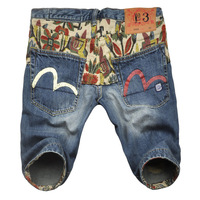 Free shipping Wholesale 2014 high quality summer fashion jeans short pants for men size 28 to 38