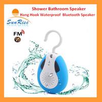 BTS19 Portable Hang Hook Speaker Waterproof Wireless Bluetooth Speaker Shower Handfree Speakers with Mic & FM Radio