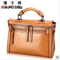 2014 new woman handbags 100% genuine leather handbags big package female messenger bag casual
