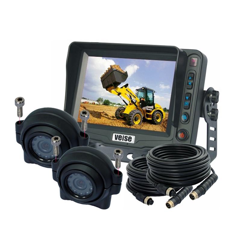 "5"" Monitor Forklift Truck Car Rear View Camera System + 2pcs Side View IR Camera(China (Mainland))"