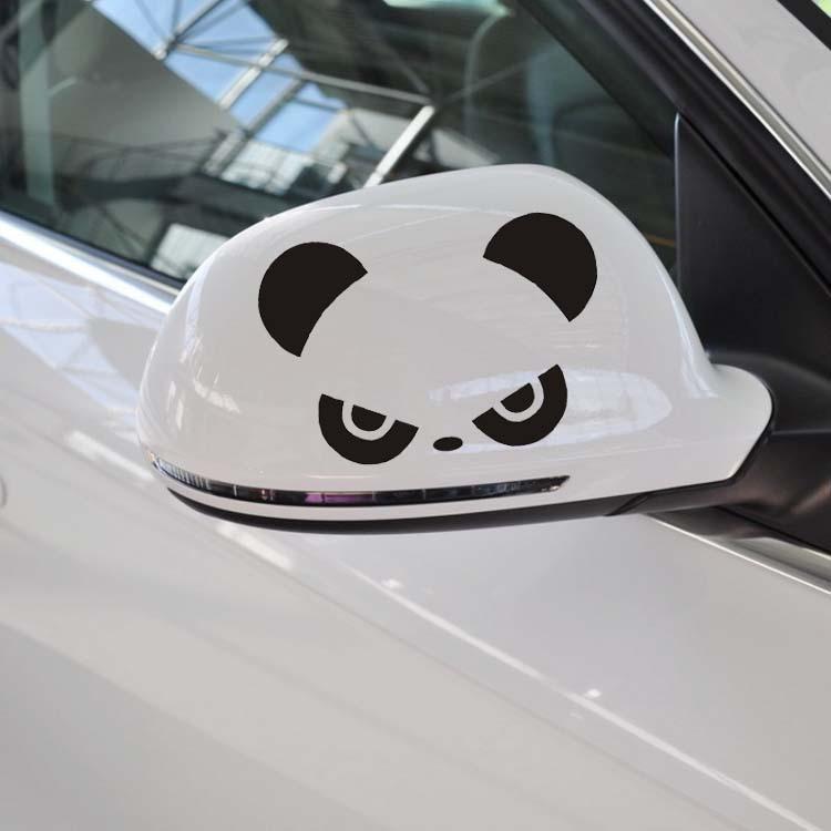 Наклейка на зеркало взгляд панды