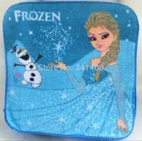 2014 new Children Towel Baby Feeding Bib frozen Cartoon Absorbent Muslins/Small Square Handkerchief Cotton Towels