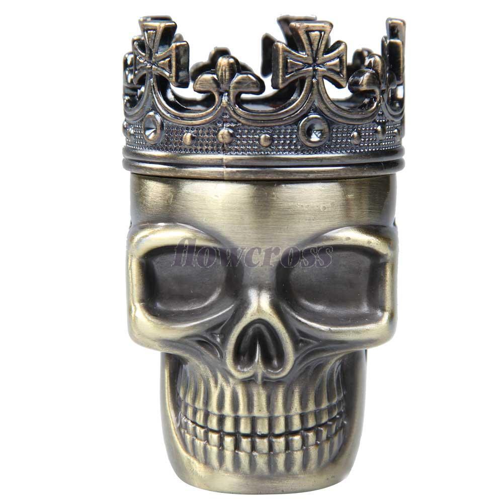 Fw1s новинка творческий король череп металл форма шлифовальный станок херб специй мюллер дробилка
