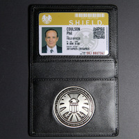 New 2014 The Avengers S.H.I.E.L.D.of card holder leather ID  men wallets with badge
