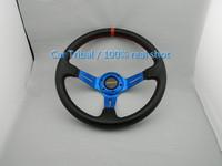 Free Shipping Hot momo steering wheel carbon fiber PVC / modified car steering wheel / 350mm Racing Wheel real shot