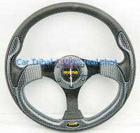 2014 Hot MOMO steering wheel modification / PU modified steering wheel / 13 inch racing car steering wheel colored optional