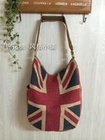 fashion GB United Kingdom England flag  messenger bag cotton-flax cloth Linen shopping bag