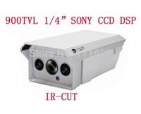 "Wholesale - 1/4"" SONY CCD HD 900TVL 2 Array LED IR 20M Weatherproof Camera Outdoor IR CCTV Security Camera 4/6/8/12/16mm Lens"