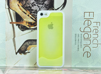 Fashion Angel Thin Plating frame Lighting at night Case cover for iphone 5 5g 5s Phone case,Free shipping