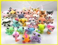 "Free shipping 50pcs /lot 2.4"" Littlest Pet Shop Animals Figures Toy for children,Vinyl Doll little pet figures LPS toy ornaments"