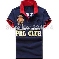 Free Shipping 2014  Fashion Short Sleeve Strip  Polo Shirt for men ,  Fashion Men's Casual T Shirt100% Cotton