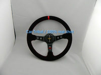 Free Shipping Hot 350mm wheel conversion / racing wheel / OMP modification good quality matte leather steering wheel
