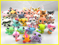 """Free shipping 10pcs /lot 2.4"""" Littlest Pet Shop Animals Figures Toy Vinyl Doll(10 different pcs/lot) little pet figures LPS toys"""