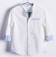 2014 autumn boy Long sleeve shirt Can pull sleeve kids blouse 9pcs/lot