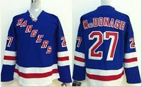 NEW Youth jerseys New York Rangers #27 Ryan McDonagh Blue Home Stitched NHL Jersey