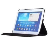For Samsung Galaxy Tab 3 10.1 Tablet book cover,Rotating leather Case for Samsung GT-P5200 P5210+Screen protector +Free ship