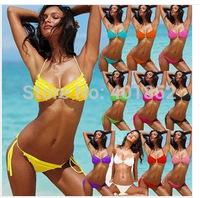 In Sales! fashion stretch nylon  swimwear women bikini set beach bikinis push up hot spring bikini set free shipping