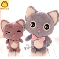 22cm free shipping wholesale stuffed toy plush toy soft baby doll qmates cat doll honey  birthday gift