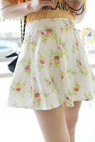 2014 summer new Korean version of sweet wild flowers fresh floral skirt skirts small sheds