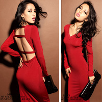 Spring 2014 New Hot New Women Summer Celebrity Midi Maxi Bodycon dress sexy Ladies Red Black Evening dresses prom cute dresses