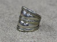 R169 Tibetan White Metal Copper Silvertone man rings,Tibet finger Ring,wholesale Man Amulet Rings