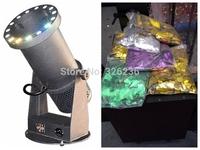 15pcs*3W Led Lamps Paper Confetti Cannon+5KG Confetti Paper Free Shipping Confetti Blower LED Confetti Machine 90V-240V