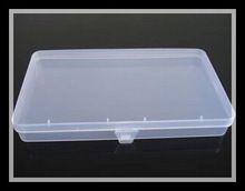 new PP rectangular transparent box plastic box jewelry parts element small box free shipping!(China (Mainland))
