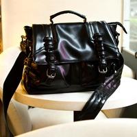 Bags 2014 female autumn fashion shoulder bag messenger bag motorcycle bag buckle brief women's handbag
