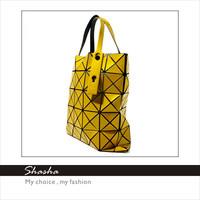Hot Sale New Arrival Candy Color Japan large deformation shopping bag folding plaid children handbags shoulder bag free shipping