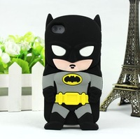 For iphone 4 4s 5 5s best quality fashion 3D silicon superman batman ironman spideman captain america Green Hornet case