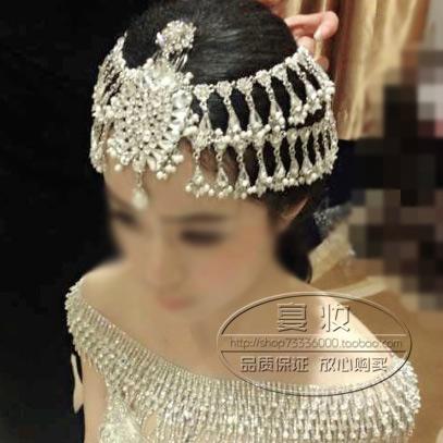Bride handmade crystal beaded hair accessory marriage accessories wedding accessories hair accessory