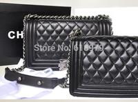 2014 new fashion luxury famous brand shoulder bag women cc diamond leather handbag vantage silver chain bag