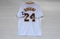 Free Shipping  2013-14 Los Angeles 24 # Kobe Bryant  Christmas Jersey, Short Sleeve Basketball Jersey With Big Logo  S-3XL