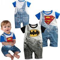 2014 wholesale Baby Romper printing boys short sleeve leotard climbing clothes jumpsuit for kids 6pcs/lot