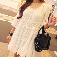 2014 Summer Lace Maternity Dresses Clothing Plus Size Dress For Pregnancy Clothes Pregnant Women Fashion Free Shipping