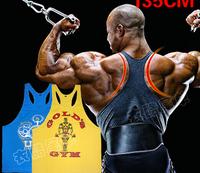 2014 New Men's Gold Fitness Gym Vest Muscle Tank Tops Bodybuilding & Workouts Sportswear Singlet Shirts 100% cotton undershirt