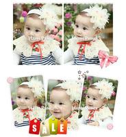 Cute big chiffon flower headband kids accessories 2014 new cheap free shipping