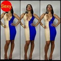 Print dresses white blue  Bodycon dresses 2014 sexy club summer dress tunic party women clothing atacado roupas femininas