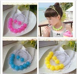 Moda coréia 2014 fruta filhos geléia jóia best produtos do bebê! Atacado crianças/garoto-de-rosa jóias definida jóias artesanais(China (Mainland))