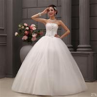 2014 new women's fashion lace wedding dress Tube Top lacing lace bandage diamond paillette Slim Princess bride dress