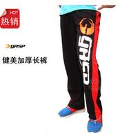 high quality New Men's GYM fitness bodybuilding pants Clothes Gasp slacks100% cotton pant Plus Size
