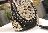 2014 European and American fashion coin bag shipping back more than double shoulder bag retro bag diamond tassel handbag tide
