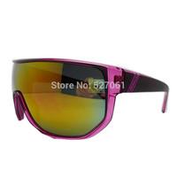 NEW 2014 Goggle Men Women Glasses UV400  OverSized  Outdoor Sport Sunglasses  Purple Frame HOT!
